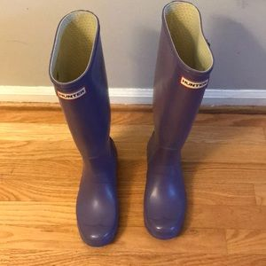 Hunter boots like new! 39/8 women's